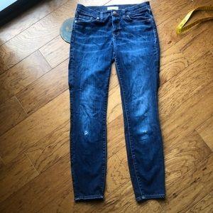 Madewell skinny 29 distressed jeans